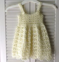 Crochet Dress Baby Girl Ivory Lace 912 Months by CreateAWay, $45.00