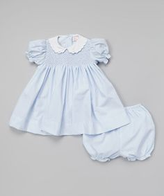 Another great find on #zulily! Blue Bishop Dress & Bloomers - Infant #zulilyfinds