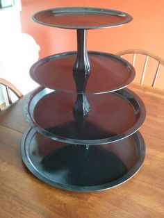 Home Transformed: How To: Easy Tiered Stand - candlesticks e6000 glue, food-safe clear coat