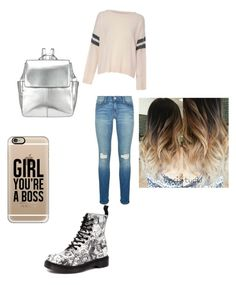 """School"" by noragd001 on Polyvore featuring Glamorous, Rebecca Minkoff, Dr. Martens, Kin by John Lewis and Casetify"