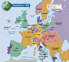 Revolutions, 1848 - In the wake of these Revolutions, particularly in what would become Germany, came immigrants to the US.