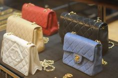 Colourful Chanel bags