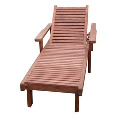 Outdoor Best Redwood Single Sun Chaise Lounge - CLSNSC-W1910-M