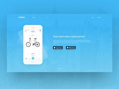uma app website page by Chad Best Cycle, Mobile Ui, Page Design, Layout, App, Website, Ideas, Page Layout, Apps