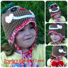 Gingerbread Man Crochet HatChristmas by TrudysKnotsofLove on Etsy