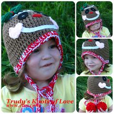Gingerbread Man Crochet HatChristmas by TrudysKnotsofLove on Etsy