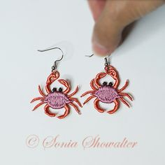 Crab Earrings: Sonia Showalter