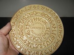 Native American Cherokee Indian Alphabet Trivet -  Frankoma Pottery // I have the Prairie Green in my collection