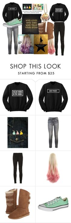 """""""Wait For It"""" by kennathecat-1 ❤ liked on Polyvore featuring Current/Elliott, Yves Saint Laurent, Bearpaw and Converse"""