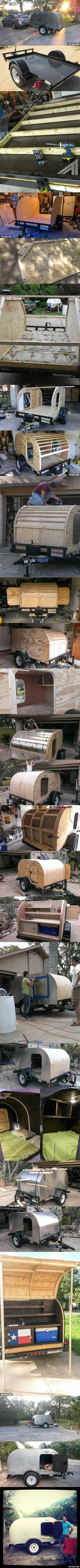 Oct162016Sun-I decided build a tiny camping trailer. I had no experience but I gave it my best shot.()