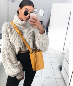 I'm always down for a chunky cozy sweater!