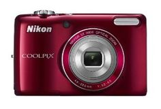Nikon COOLPIX L26 16.1 MP Digital Camera with 5x Zoom NIKKOR Glass Lens and 3-inch LCD (Red)  Order at http://www.amazon.com/Nikon-COOLPIX-Digital-Camera-NIKKOR/dp/B0073HSK0K/ref=zg_bs_330405011_41?tag=bestmacros-20