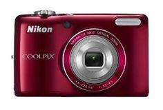 Nikon Coolpix Red Digital Camera w/ Optical Zoom Lens, 3 inch LCD Display, HD Video, Image Stabilization Nikon Digital Camera, Digital Cameras, F Stop, Point And Shoot Camera, Nikon Coolpix, Lcd Monitor, Best Camera, Perfect Camera, Winter