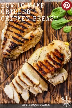 A method for juicy boneless skinless grilled chicken breast. How to grill chicken without it being dry. It's rather easy. Barbecue Recipes, Grilling Recipes, Meat Recipes, Shellfish Recipes, Top Recipes, Protein Rich Foods, High Protein Recipes, Grilled Chicken Recipes, Easy Chicken Recipes