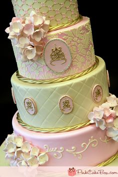 Princess cake by Pink Cake Box ~ Shabby Chic Cake @Sharon Vogel, I want THIS cake for my birthday please!!! :D <3 I love you!!!!
