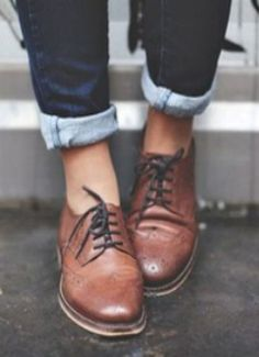 Trendy how to wear brogues women oxfords boots Ideas Look Fashion, Autumn Fashion, Womens Fashion, Tomboy Fashion, Fashion News, Fashion Trends, Crazy Shoes, Me Too Shoes, Estilo Tomboy