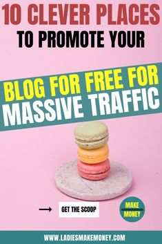 Exactly to promote your blog for massive traffic. Increase your blog traffic with these 10 totally free places to promote your blog. These are great blog tips if you are starting a blog and want to get traffic fast. 10 Blog post sharing sites that you can submit your site for free and grow your audience. Increase your site traffic from social media and search engines with these awesome blogging tips and tricks #blogtraffic #bloggingtips #marketing