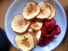 Jabłka i truskawki prosto z dehydratora #raw  #dehydrated