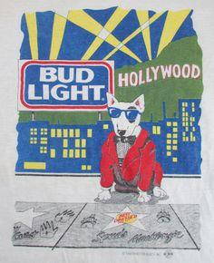 Hollywood Lights, Bud Light, Vintage Tees, 1990s, Poster, Art, Art Background, Vintage T Shirts, Kunst