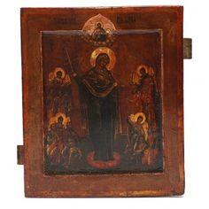 Icona antica russa Madonna del Pianto XIX secolo   vendita online su HOLYART