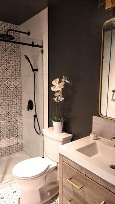 Modern Bathroom Design, Bathroom Interior Design, Master Bathroom Designs, Mediterranean Bathroom Design Ideas, Minimalist Bathroom Design, Bath Design, Upstairs Bathrooms, Bathroom Small, Budget Bathroom