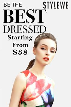 Be The Best Dressed: StyleWe is offering New Dresses, price starting from just $38. Grab up now! For more StyleWe Coupon Codes visit: http://www.couponcutcode.com/stores/stylewe/