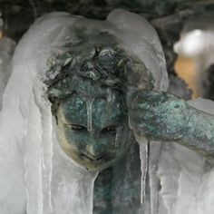 Statue with icicles