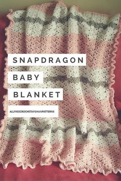 Snapdragon Crocheted Baby Blanket.