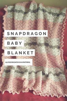 Snapdragon Crocheted Baby Blanket.