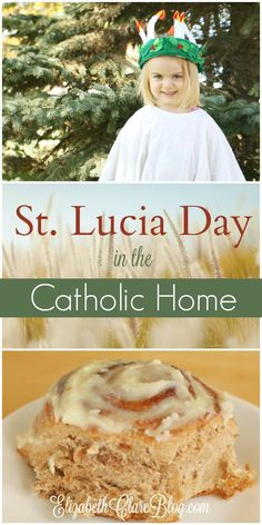 Simple ways to celebrate St. Lucia or St. Lucy Day with kids in the Catholic home during Advent - great Santa Lucia book suggestions! Advent Catholic, Catholic Feast Days, Catholic Holidays, Saint Feast Days, Catholic Crafts, Catholic Kids, Catholic Saints, Catholic Homeschooling, Catholic Traditions