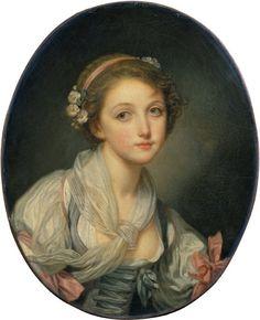 Girl with a Gauze Scarf, by Jean-Baptiste Greuze.  1770