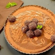 Triple Brigadeiro Cheesecake Tart