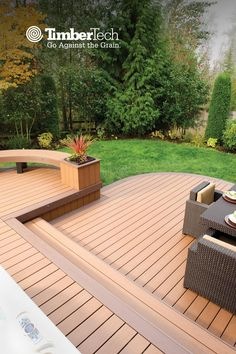 Why go ordinary when you can go one-of-a kind? See how you can create a deck that defies the status quo. Backyard Patio Designs, Backyard Landscaping, Patio Ideas, Deck Cost Calculator, House Deck, Decks And Porches, Home Interior, Outdoor Living, Status Quo