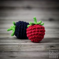 RASPBERRY BLACKBERRY - PDF crochet pattern Play food patterns Crochet dewberry Crochet raspberry Patterns for berries Pretend food patterns by OlinoHobby on Etsy