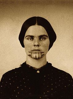 15 Olive OatmanProbably the most famous photograph of a former Indian captive, taken after her ransom was paid in 1856, this photo of Mormon Olive Oatman reveals the blue cactus ink tattoo her Mohave captors gave to her to ensure a good afterlife.– True West Archives –
