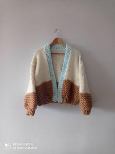 Chunky Oversized Sweater, Chunky Knit Cardigan, Crochet Cardigan, Knit Crochet, Winter Cardigan, Crochet Tops, Black Cardigan, Free Crochet, Crochet Clothes