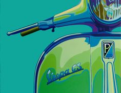 Vespa GS illustration