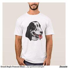 Grand Anglo Francais Blanc Et Noir T-Shirt