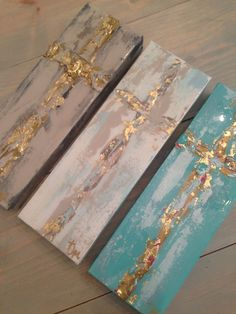 "4""x12"" crosses by Jenn Meador $50 each. Email to purchase jennmeadorpaint@gmail.com"