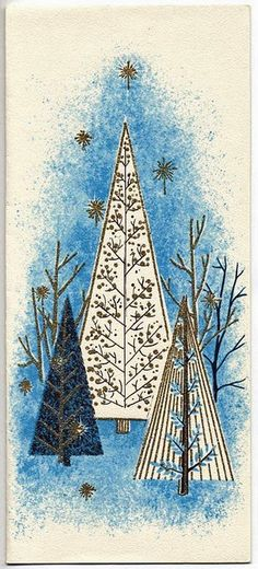 I love vintage Christmas cards! This is a selection of 30 of the best vintage and mid-century Christmas images, plus links to more, to print and decorate for the holidays. Christmas Tree Images, Vintage Christmas Images, Noel Christmas, Modern Christmas, Retro Christmas, Vintage Holiday, Christmas Pictures, Christmas Greetings, Christmas Crafts