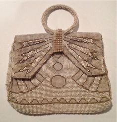 SALE Antique art deco beaded purse was 43. now by WhirleyShirley, $38.00