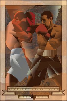 "Illustration by John Mattos ""Boxing is a celebration of the lost religion of masculinity all the more trenchant for its being lost."" - Joyce Carol Oates"