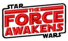 Star Wars The force awaken machine embroidery design. Machine embroidery design. www.embroideres.com