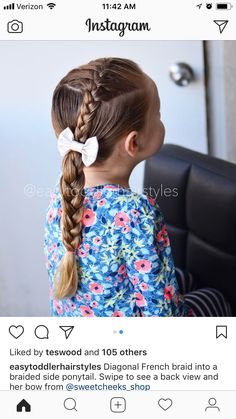 Princess Hairstyles, Little Girl Hairstyles, Cute Hairstyles, Toddler Hair Dos, Toddler Girl, Mono Mini, French Braid, Hair Looks, Ponytail