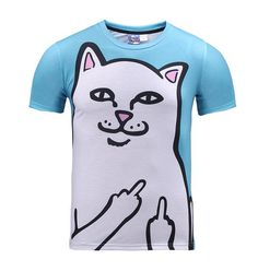 b3761ad274 2017 NEW Kitten Laser Cats 3D Print Shirts Surprised T-shirt Fluffy Cuddly  Terrified Cat Faces Awesome Women Men Summer t shirt