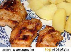 Medové maso na grilu recept - TopRecepty.cz French Toast, Pork, Meat, Breakfast, Kale Stir Fry, Morning Coffee, Pork Chops