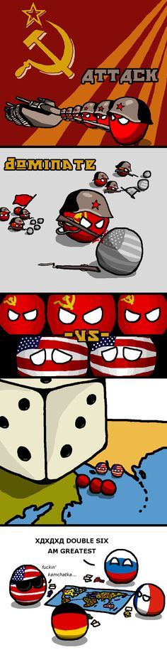 """Soviet Dominance"" ( Russia, USA, Germany, France ) by cyaspy Satw Comic, Funny Images, Funny Pictures, Hetalia Funny, History Memes, Country Art, Cool Countries, Funny Comics, Comic Strips"
