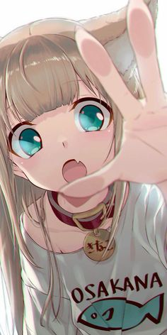 Original work, By what is up with anime chicks reaching out? Anime Wolf Girl, Manga Anime Girl, Cool Anime Girl, Anime Girl Drawings, Pretty Anime Girl, Cute Anime Pics, Anime Girls, Cute Anime Cat, Cute Anime Girl Wallpaper