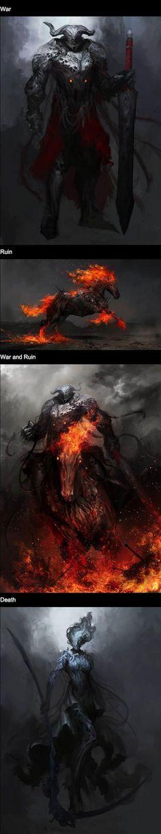 The Four Horseman By Daniel Karamudin - War