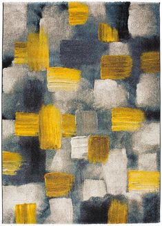 Teal Yellow Grey, Blue And Yellow Living Room, Dark Blue Rug, Yellow Art, Color Beige, Mirror Decor Living Room, Living Room Colors, Mustard Color Scheme, Paper Background Design
